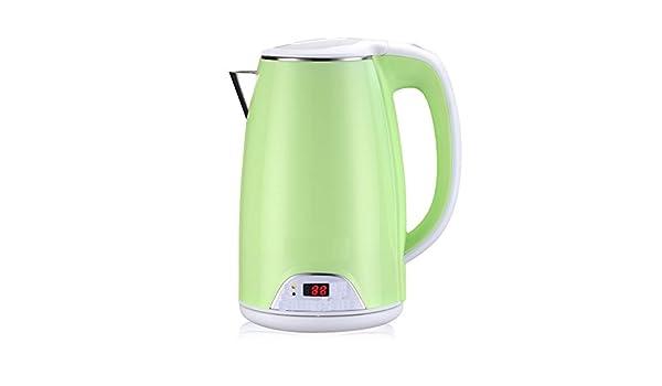 Sh! 1.7L 1800W De Agua Eléctrico De Acero Inoxidable Hervidor De Oficina En Casa Calentador De La Caldera Se Apaga Automáticamente ++ (Color : Green): ...