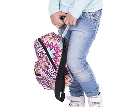 SHFANG 3D gedruckter doppelter Schulterrucksack für Kinder Junge Kinder Beutel Oxford Tuch Ein Geschenk von einem Kind Schule Einkaufen Freizeit 20 * 11 * 24cm