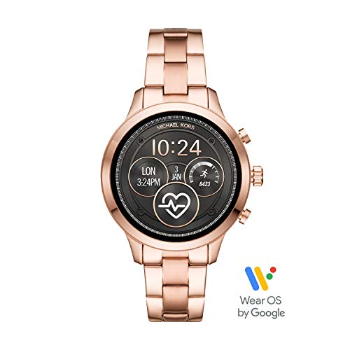 Michael Kors Women's Access Runway Stainless Steel Plated Touchscreen Watch with Strap, RoseGoldTone, 18 (Model: MKT5046)