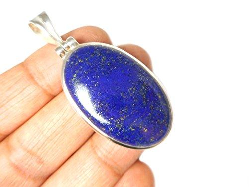Afghanistani Lapis Lazuli Argent sterling 925Pendentif-(Llpt1101172)