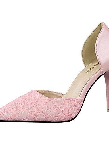 Rosa ® tac pu 36 ZQ n tacones di negro ¨ tacones EU Bianco casual Scarpe stiletto Oro Blu mujer Argento 4nn6PXx