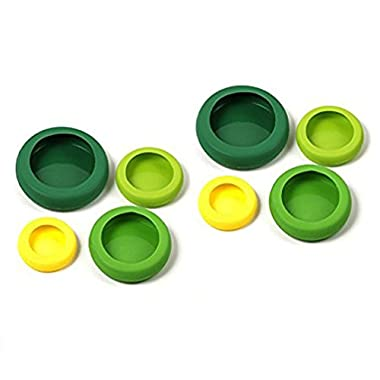 Farberware Assorted Food Huggers, Set of 8, Green