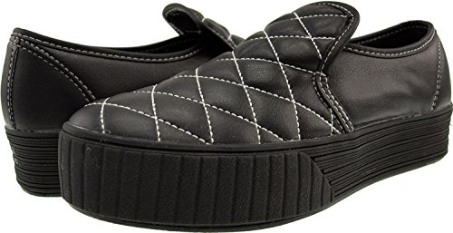 Black Maxstar Synthetic Leather Stitch Shoes Sneakers top Low Platform 4Aq4rzSw