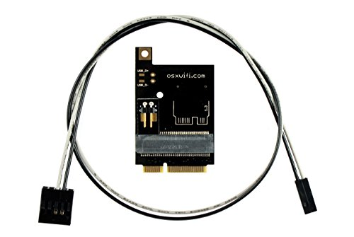Broadcom Apple WiFi + Bluetooth 4.0 Card to miniPCIe Adapter for PC/Hackintosh Laptop with Full size miniPCIe card (Best Cheap Laptop For Hackintosh)