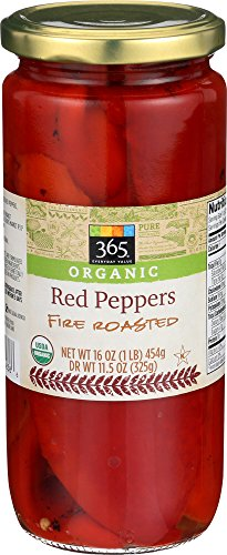 365 Everyday Value, Organic Red Peppers Fire Roasted, 11.5 - Bell Red Pepper Roast