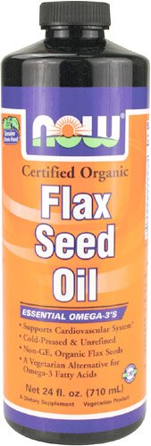 NOW Foods Flax Seed Oil, 24 onces