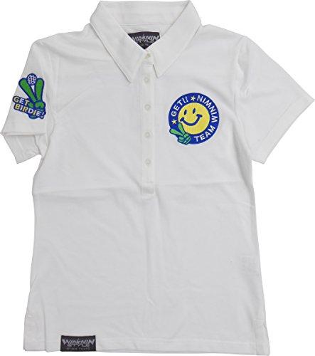 WINWIN STYLE(ウィンウィンスタイル) GET BIRDIE! ゲットバーディ レディース 半袖シャツカラー ポロシャツ WH(M)