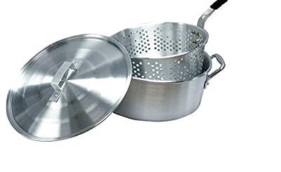 "Cookware & Kitchen Tools Smart Cook Aluminum 10 Quart 12"" Outdoor Deep Fryer Pot Basket and Lid NEW!"