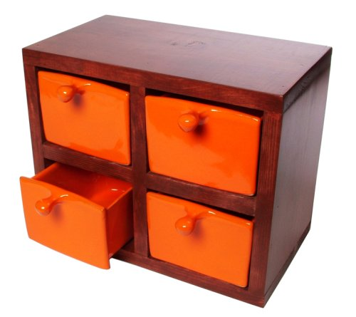 Mamma Ro Storage Drawers, Orange