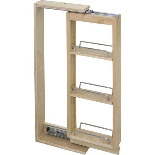 Hardware Resources WFPO336 Wall Cabinet Filler Pullout, Hard Maple by Hardware Resources