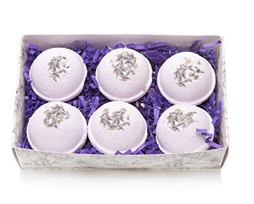 /Lavender Scented Fizzies Bath Balls | Set of 6, Handmade in USA From Tatum & Shea (ALL Lavender) ()