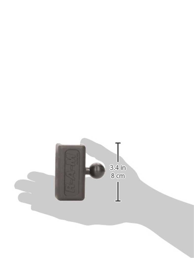 CLAMP W// 1Inch Ball RAM-B-259U Ram Mounts RAM 1Inch X 1Inch U-Channel CLAMP W// 1Inch Ball
