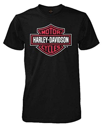 Harley-Davidson Men's T-Shirt, Bar & Shield Short Sleeve Tee, Black 30290597 (S)