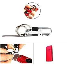 Mehr Classic Attachable Key Chain - Simple, Elegant, Durable Multi Ring Key Holder - Smart Keychain (Chrome Silver)