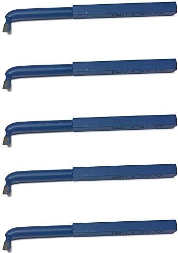 [Gesponsert]5 Stück Drehstahl 10 x 10 mm - Haken Drehmeißel mit Hartmetall - Qualität für Stahl - DIN263