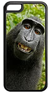 Monkey Selfie- For Iphone 6 Plus Phone Case Cover - Hard Black Plastic Snap On Case