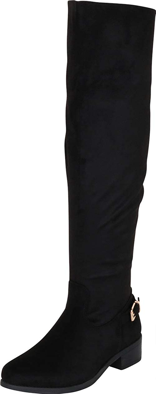 Black Imsu Cambridge Select Women's Classic Thigh-High Over The Knee Riding Boot