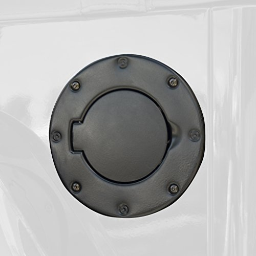 Outland 391122901 Black Non-Locking Gas Cap Door for Jeep TJ Wrangler