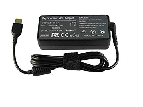 Newin Adaptador de CA de 20 V 3,25 A 65 W para portátil Compatible con Lenovo Charger PA-1650-37LC PA-1650-71 ADLX65SDC2A...