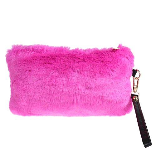 Domybest , Sac pour femme à porter à l'épaule Taille unique rose rouge
