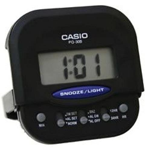 Casio Compact Digital Beep Black Alarm Clock PQ30B-1