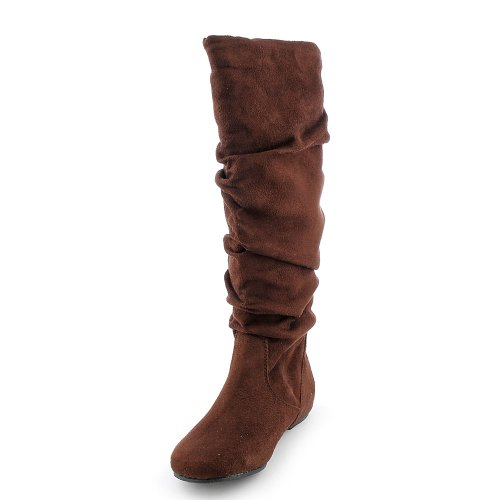 Soda Womens Zulu-S Boot - Tobacco Suede Size 9
