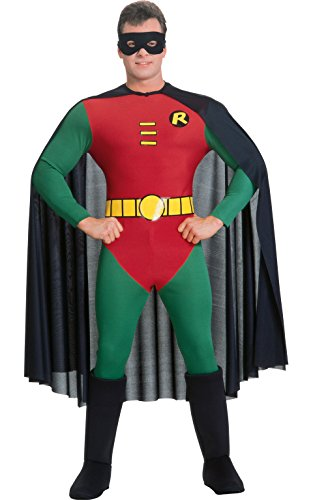 [Rubie's Costume Classic Batman Deluxe Robin, Red/Green, Small Costume] (1960s Batman And Robin Costumes)