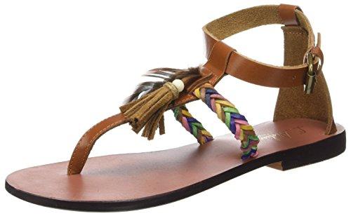 Spartiates Sandale L'ATELIER Femme Tan Marron Plume TROPEZIEN 4xw8H6v