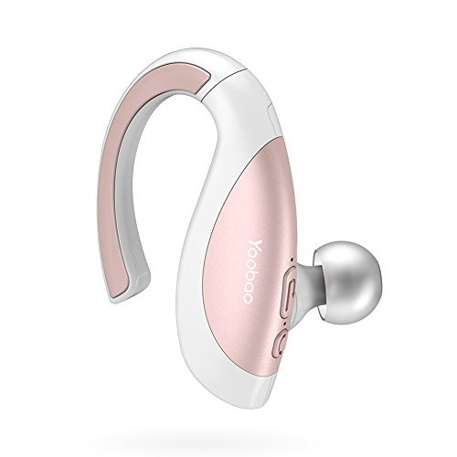 Yoobao Bluetooth Headset YBL-106 Hands Free Wireless Earpiece in-Ear Sport Earbuds with Mic for iPhone and Android-Rose Gold