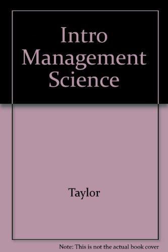 Intro Management Science