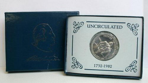 1982 Us Commemorative Washington Silver Half Dollar Bu by Twin City Gold