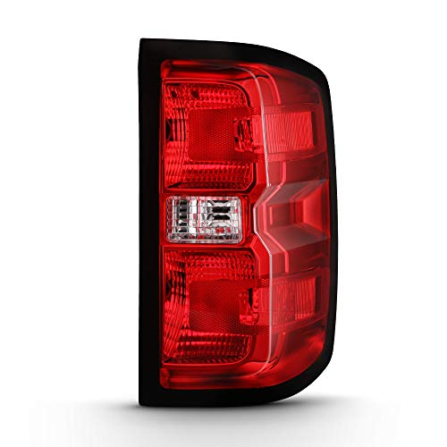 ([For 2014-2018 Chevy Silverado 1500 & 2015-2019 Silverado 2500HD 3500HD Incandescent Models] Driver Side Red Lens OE-Style Tail Light Housing Left Lamp Assembly Replacement)