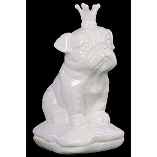 Urban Trends Collection 46724 Ceramic British Bulldog, Gloss (Bulldogs White Ceramic)