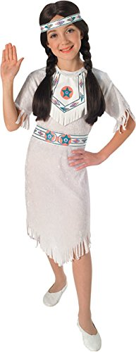 Adult Pocahontas Indian Wig (Rubies Native American Princess Child Costume, Medium)