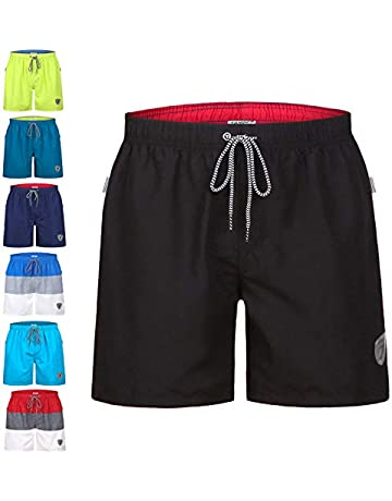 7b103deecd coskefy Swimming Trunks Mens Swim Shorts Quick Dry Watershorts Board Shorts  with Mesh Lining (16
