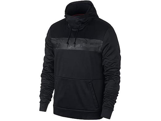 63361a66657e13 Jordan Nike Mens 23 Alpha Therma Pull Over Hoodie Black Dark Smoke Grey  AO8863-
