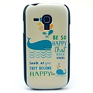 HJZ Lovely Whales Pattern Hard Plastic Cases for Samsung Galaxy S3 mini I8190