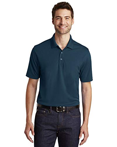 (Port Authority Mens Dry Zone UV Micro-Mesh Polo (K110) -River Blue -L)