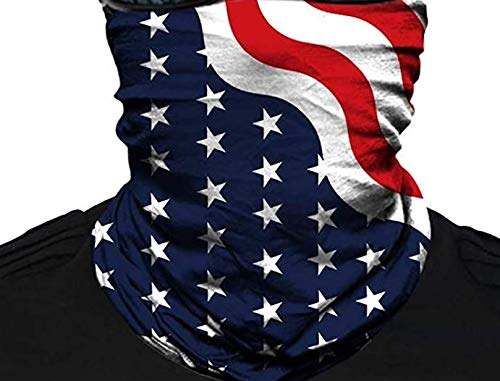 ZCPlus Face Scarf Face Cover Sun Dust Bandanas for Indoor and Outdoor Fishing Motorcycling Running Blue