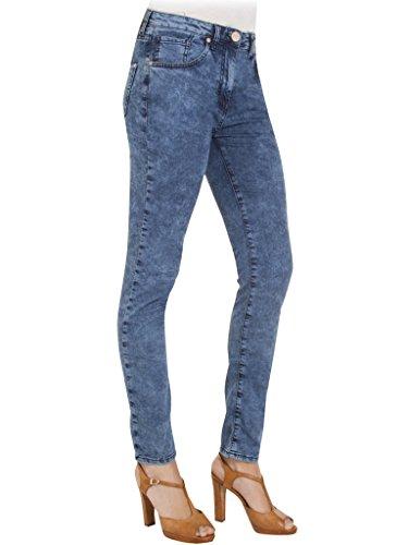 extensible pour Bleu Carrera Jeans taille Lavage Fonc tissu femme 105 taille 775 style denim Jeans style droit haute skinny tvtqwOTgy