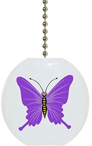 Butterfly Fan Ceiling Pull (Purple Butterfly Solid CERAMIC Fan Pull)