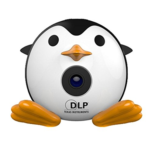 LOUSHI New Mini Penguin Projector Portable Projector Video Multimedia Home Business by LOUSHI