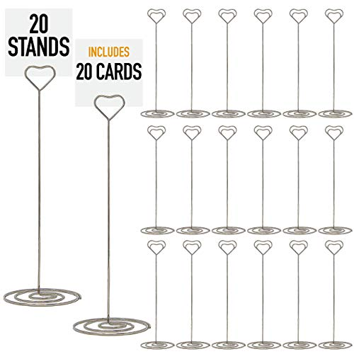 Cheap Wedding Table Number Holders (Set of 20 Table Number Holder - Table Number Stands For Signs, Table Number Holders For Weddings, Table Card Holder, Table Sign Holder, Table Number Stand | Wedding Table Numbers)
