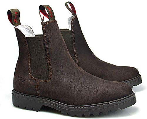hoboshoes Train Bottines d'équitation kängi, Dark Brown
