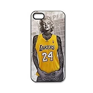 High Quality Lakers Monroe Pattern Plastic Hard Case for iPhone 5/5S