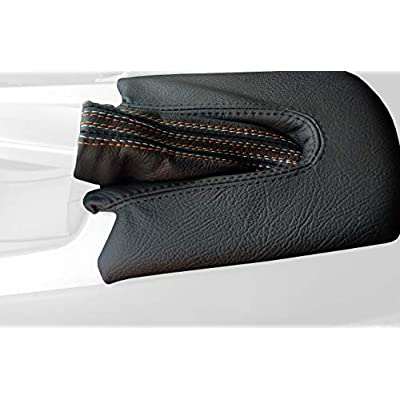 RedlineGoods ebrake Boot Compatible with BMW Z4 E85 2002-08. Black Alcantara-Silver Thread: Automotive