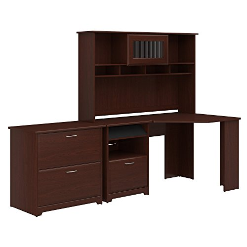 Right Lateral File Bow - Cabot Corner Desk with Hutch and Lateral File Cabinet