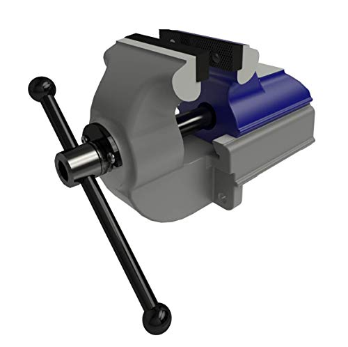 GRESSEL Swiss Precision Industrial Heavy Duty Bench Vise PS 100-1Serrated Jaws