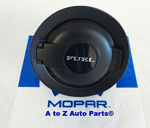 NEW 2008-2015 Dodge Challenger MATTE BLACK VAPOR Fuel Door,OEM Mopar by Mopar (Cover Door Oem)