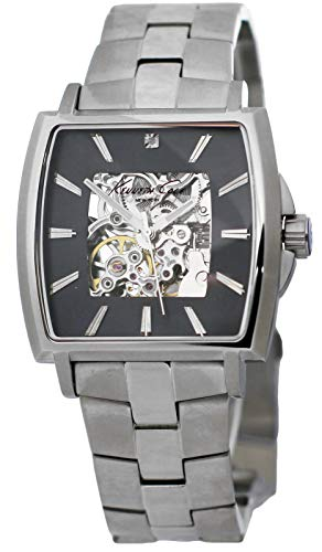 Kenneth Cole New York KC3899 Men's Automatic Skeleton Watch Steel Bracelet